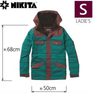 ◆ NIKITA MAYON JKT カラー:WINE TROPICAL GREEN JACQUARD Sサイズ ニキータ スキー スノーボード レディースウェア ジャケット off-1