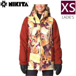 ● 16-17 NIKITA MENDOZA JKT カラー:COFFEE MULTI COLOR PRINT XSサイズ ニキータ スキー スノーボード レディースウェア ジャケット off-1