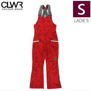 【ラス1】○レディース[Sサイズ]  CLWR CAT BIB PNT/Red Ceramic カラーウェアのスノーボードウェア ビブパンツ オーバーオール|off-1