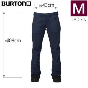 ●レディース[Mサイズ] BURTON VIDA PNT カラー:MOOD INDIGO バートンのスキースノーボードウェア スリムフィットのビーダパンツ 細身パンツ スタイルアップ|off-1