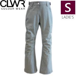 ◎ 17-18 CLWR STAMP PNT カラー:Grey Melange Sサイズ カラーウェア スキー スノーボードウェア レディースパンツ 型落ち|off-1
