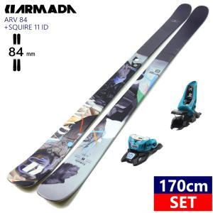 特典付き【早期予約商品】[170cm84mm幅]21 ARMADA ARV84+AAATTACK2 11 BLACK アルマダ スキーセット  ツインチップ  日本正規品 2020-2021 off-1