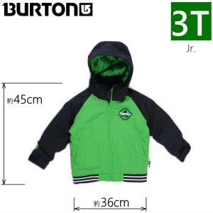 ●キッズ ジュニア[3Tサイズ] BURTON BOYS MS GAME DAY JKT カラー:SLIME TRUE BLACK カラー:SLIME TRUE BLACK バートンスノーボードウェア 子ども用 雪遊び|off-1