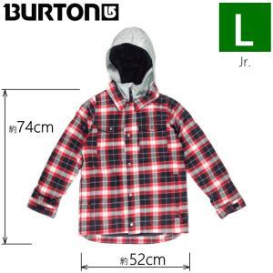 ●キッズ ジュニア[Lサイズ] BURTON BOYS UPROAR JKT カラー:PROCESS RED MIKED PLD バートン スノーボードウェア 子ども用 型落ち チェック柄 日本正規品|off-1