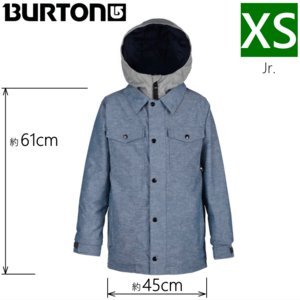 ◎キッズ ジュニア[XSサイズ]18 BURTON BOYS UPROAR JKT カラー:Denim Chambray バートン スノーボードウェア 子ども用 型落ち 雪遊び 日本正規品|off-1