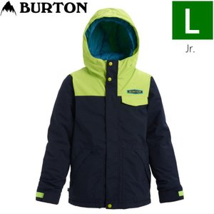 ☆Lサイズ 20 BURTON DUGOUT JKT カラー:DRESS BLUE TENDER SHOOTS バートン キッズ ジュニア スキー スノーボードウェア ジャケット ジャケット JACKET|off-1