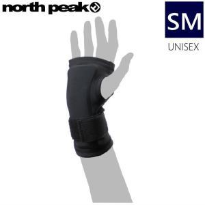 ★[SMサイズ]NORTH PEAK WRIST GUARD NP-2410 カラー:BKノースピークのスキースノーボードに使える 両手首用プロテクター インナーグローブタイプ!!|off-1