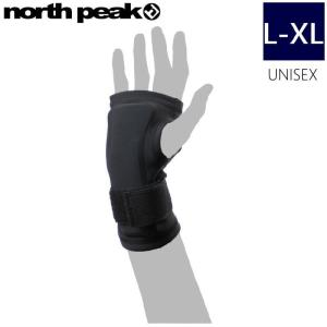★[L-XLサイズ]NORTH PEAK WRIST GUARD NP-2410 カラー:BKノースピークのスキースノーボードに使える 両手首用プロテクター インナーグローブタイプ!!|off-1