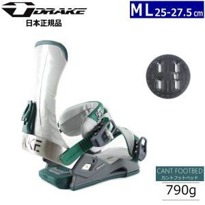 ★[MLサイズ]19 DRAKE SUPERSPORT カラー:GREY BLACK GREEN スノーボードビンディング|off-1