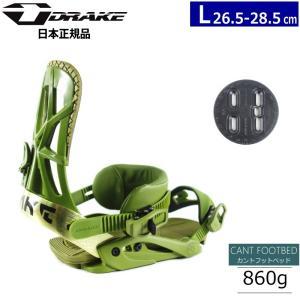 ★[Lサイズ]19 DRAKE FIFTY カラー:ARMY GREEN スノーボードビンディング|off-1