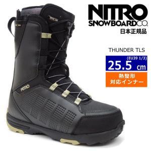 ☆EU39 1/3[25.5cm]20 NITRO THUNDER カラー:BLACK メンズ スノーボードブーツ ナイトロ サンダー 型落ち 旧モデル 日本正規品|off-1