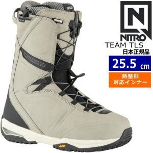 20-21 NITRO TEAM TLS カラー:STONE BLACK ナイトロ チーム スノーボードブーツ スピードレース EU39 1/3[25.5cm]|off-1