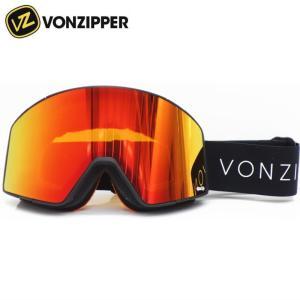 ★VONZIPPER CAPSULE カラー:DBF BLACK SATIN レンズ:WILD FIRE CHROME&WILDLIFE YELLOW ボンジッパー カプセル スキー・スノーボード用ゴーグル off-1