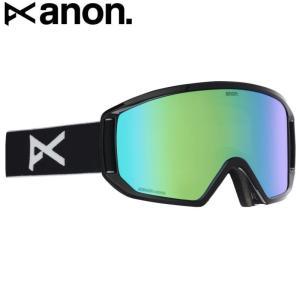 ☆20 ANON RELAPSE GOGGLE ASIAN FIT カラー:BLACK レンズ:SONAR GREEN バートン アノン ゴーグル リラプス 平面 メガネ対応 アジアンフィット off-1