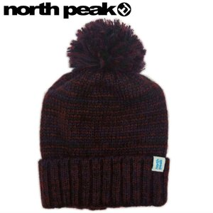 ■[FREEサイズ] northpeak NP-9364 BEANIE カラー:PU ノースピーク ニット帽 スキー スノーボード ビーニー ポンポン付 帽子 メンズ レディース ユニセックス|off-1