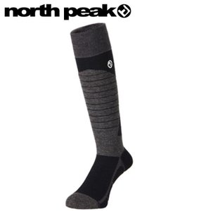 ●[23-25cm]NORTH PEAK BOARDERS SOCKS MP-593 カラー:BK ノースピークのソックス靴下メンズレディースユニセックス|off-1