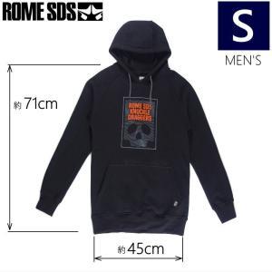◎[Sサイズ]18 ROME KNUCKLE DRAGGERS PULLOVER カラー:BLACK ローム スキー スノーボードアパレルウェア プルオーバーパーカー フーディー|off-1