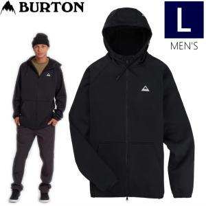 ◆ 20-21 BURTON MENS CROWN WP FULL-ZIP FLEECE HOODIE カラー:TRUE BLACK L メンズ  バートン スノーボード 撥水 パーカー|off-1