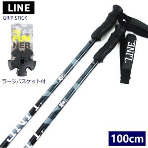 ☆[100cm]LINE GRIP STICK カラー:BLACK スキー ポール ストック 軽量アルミポール フリースキー パウダー【2019-2020】|off-1