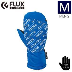 ★[Mサイズ]FLUX LOGO MITTEN GLOVE カラー:BLUE フラックス ミトングローブ 5本指に分かれた手袋日本正規品型落ち 旧モデル|off-1