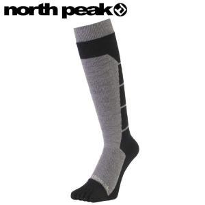 ★NORTH PEAK 5FINGER BOARDERS SOCKS MP-687 カラー:BK ノースピーク段階着圧5本指ソックス靴下メンズレディースユニセックス|off-1