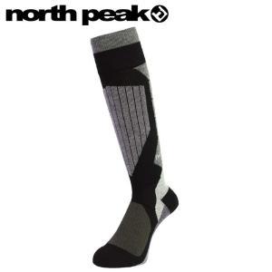 ★NORTH PEAK BOARDERS SOCKS MP-685 カラー:BK ノースピーク段階着圧ソックス靴下メンズレディースユニセックス|off-1