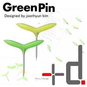 グリーンピン 画鋲  5本入り×2個 +d アッシュコンセプトGreen Pin|offer1999