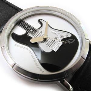 造形作家日野譲デザイン 男女兼用アートウォッチ  AT-G02-BK ギターマニアTYPE-S/ブラック/