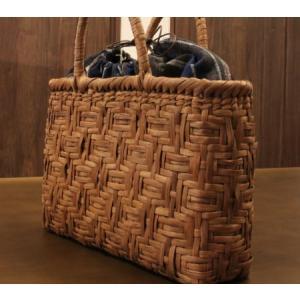 山葡萄 かごバッグと手紡ぎ綿糸を草木染し手織りした布の落とし込み巾着のセット/SHOKUの布 コースター2枚プレゼント中/SA-3102/3/籠 offer1999
