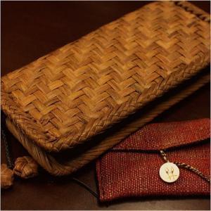山葡萄 財布中は柿渋染めの布使用&手紡ぎ草木染手織り布を使用したカードケースセット/SA-7308/レビューでSHOKUの布 コースター2枚付 offer1999