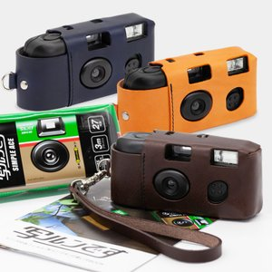 写ルンですケース 専用ケース おしゃれ 写ルンです イタリア製牛皮 本革 ニッケル 旅行 修学旅行 写真 カメラ女子 使い捨てカメラ 送料無料