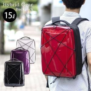 HIDEO WAKAMATSU ハイブリッドギアバックパック 異素材MIXで近未来的な外観のバックパ...