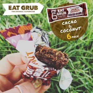 商品名:Eat Grub bar カカオ&ココナッツ 36g×6本セット ブランド:EAT GRUB...