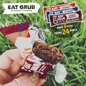 商品名:Eat Grub bar ブルーベリー・カカオ・オレンジ 36g×各8本セット ブランド:E...