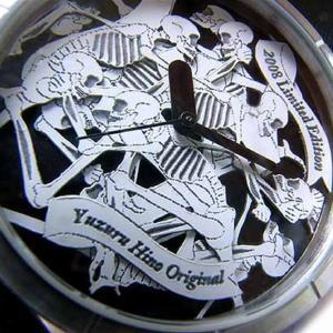 造形作家日野譲デザイン 男女兼用アートウォッチ スカルの饗宴 腕時計 AT-S06/白黒/