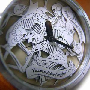 造形作家日野譲デザイン 男女兼用アートウォッチ スカルの饗宴 腕時計 AT-S08/白茶/