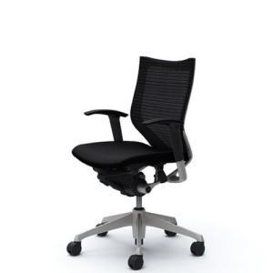オカムラ   オフィスチェア バロン ローバック 可動肘 座クッション ブラック  CP83DR-FDF1|offic-one