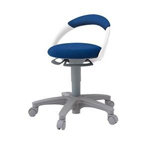 イトーキITOKI   サポートスツール 椅子 背付 キャスター付 布張り PCK-1100GB-B2 ネイビーブルー