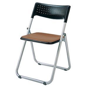 アイリスチトセ アイリスチトセ  折りたたみ椅子 スチールSS-S139Nブラウン|offic-one