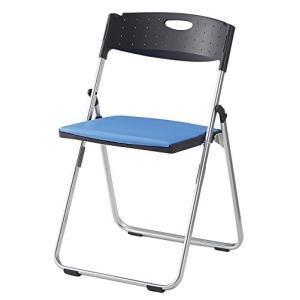 アイリスチトセ アイリスチトセ  折りたたみ椅子 スチールカルーナXCAL-XS02S-V ブルー|offic-one