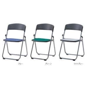 生興 折りたたみ椅子 オレフィンレザーシート張りタイプ  フラットチェアー SCF64-MX□|offic-one