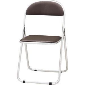 トキオ   パイプ椅子 シリンダ機能付 アルミパイプ ブラウン 2985195 CF700BR offic-one