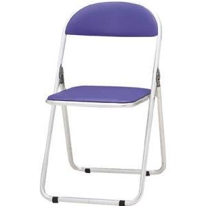 トキオ   パイプ椅子 シリンダ機能付 アルミパイプ ブルー 2985209 CF700BL offic-one