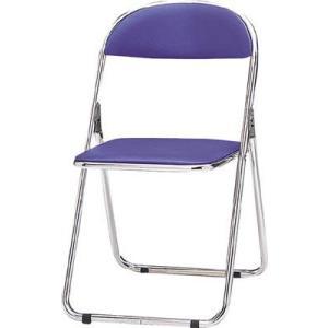 トキオ   パイプ椅子 シリンダ機能付 スチールパイプ 青 2417936 CF300M|offic-one