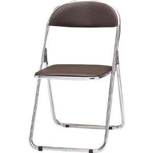 トキオ   パイプ椅子 シリンダ機能付 スチールパイプ ブラウン 2417928 CF300M offic-one
