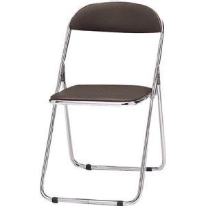 トキオ   パイプ椅子 シリンダ機能付 スチールメッキパイプ ブラウン 2417901 CF100M|offic-one