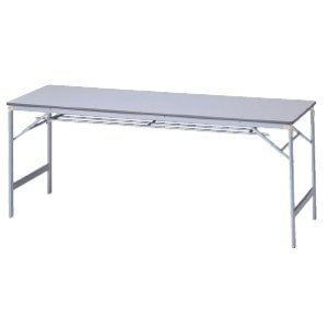 生興 薄型アルミ脚折りたたみテーブル W1800×D600×H700MM   AK-1860GC|offic-one