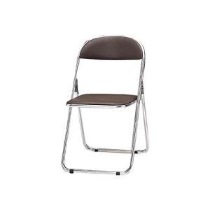 トキオ      パイプ椅子 シリンダ機能付 スチールパイプ ブラウン CF300M|offic-one