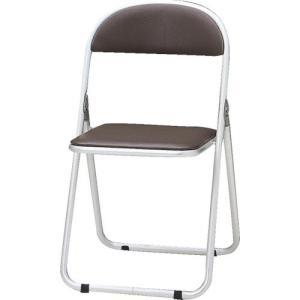 トキオ   パイプ椅子 シリンダ機能付 アルミパイプ ブラウン CF-700-BR|offic-one