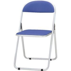 トキオ   パイプ椅子 シリンダ機能付 アルミパイプ ブルー CF-700-BL|offic-one